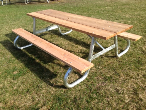 LT Stackable Picnic Table Bleacher Guys - One sided picnic table