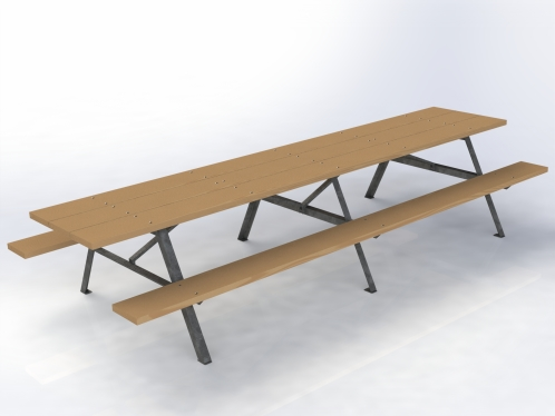 ANG Light Duty Two Sided Picnic Table Bleacher Guys - Four sided picnic table